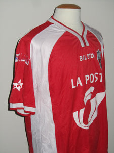 Royal Excel Mouscron 2002-03 Home shirt MATCH ISSUE/WORN #14 Claude Bakadal