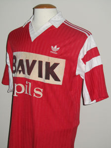 KSV Waregem 1991-92 Home shirt MATCH ISSUE/WORN #9 Jean-Marie Abeels