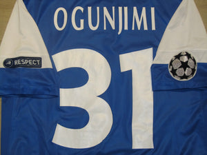 KRC Genk 2011-12 Home shirt MATCH WORN CL #31 Marvin Ogunjimi vs Valencia CF