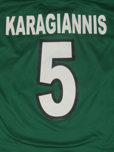 RAAL La Louvière 2001-02 Home shirt MATCH ISSUE/WORN #5 Manu Karagiannis