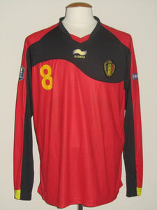 Rode Duivels 2011-2012 Qualifiers home shirt MATCH ISSUE/WORN #8 Marouane Fellaini