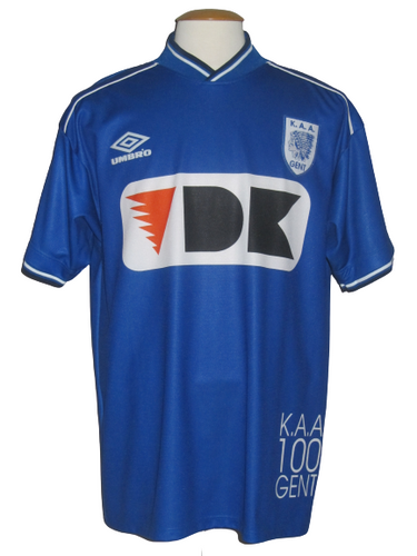 KAA Gent 2000-01 Home shirt MATCH ISSUE #28 Ahmed Hossam