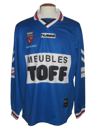 Royal Excel Mouscron 1999-00 Away shirt MATCH ISSUE/WORN #20 Gonzague van Dooren