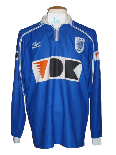 KAA Gent 1999-00 Home shirt PLAYER ISSUE #10