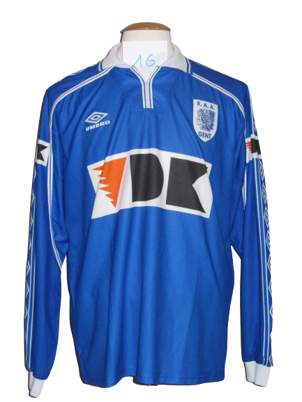KAA Gent 1999-00 Home shirt PLAYER ISSUE #16