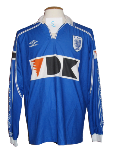 KAA Gent 1999-00 Home shirt PLAYER ISSUE #2