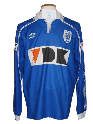 KAA Gent 1999-00 Home shirt PLAYER ISSUE #3