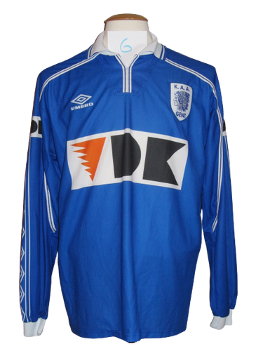 KAA Gent 1999-00 Home shirt PLAYER ISSUE #6