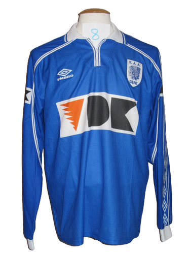KAA Gent 1999-00 Home shirt PLAYER ISSUE #8
