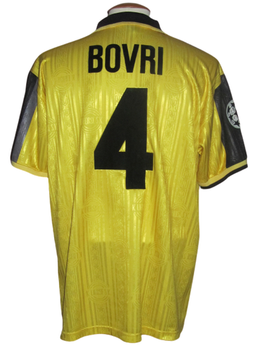 Lierse SK 1997-98 Home shirt MATCH WORN Champions League #4 Pascal Bovri vs Sporting Lissabon