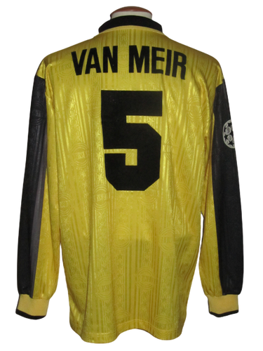 Lierse SK 1997-98 Home shirt MATCH WORN Champions League #5 Eric Van Meir vs Sporting Lissabon