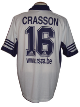 Load image into Gallery viewer, RSC Anderlecht 2001-02 Home shirt #16 Bertrand Crasson