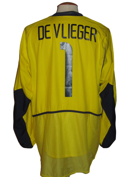 Rode Duivels 2002 WK GK shirt MATCH ISSUE/WORN #1 Geert De Vlieger