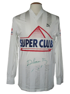 Royal Antwerp FC 1988-89 Away shirt MATCH ISSUE/WORN #3 Franky Dekenne