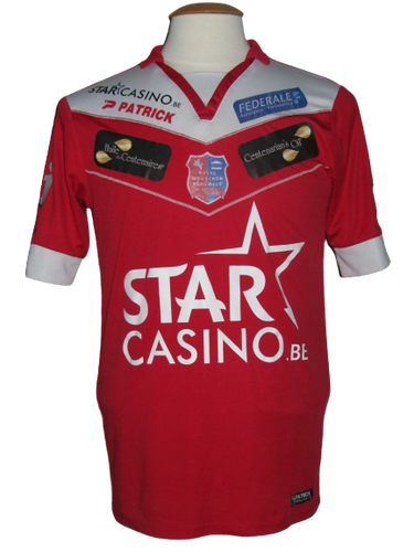 Royal Mouscron Peruwelz 2015-16 Home shirt MATCH WORN #23 Mickaël Tirpan