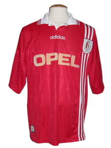 Standard Luik 1996-97 Home shirt MATCH WORN Intertoto vs Karlsrüher SC #8 Roberto Bisconti