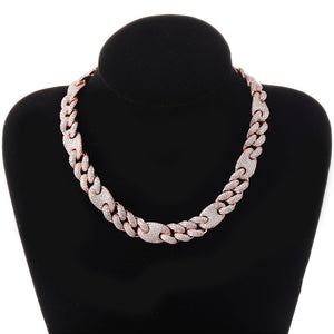 icy gucci cuban link cubic zirconia choker necklace