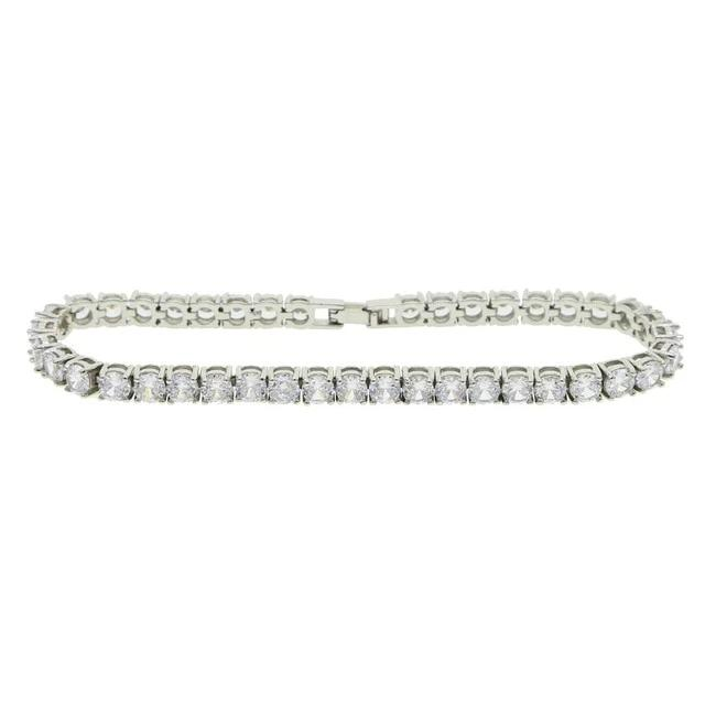 icy bling cubic zirconia platinum plated 5mm tennis anklet bling ring boutique