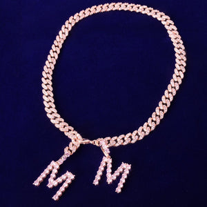 Barbie Pink Ice Custom 2 Letter Cuban Choker