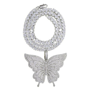 Icy Butterfly Galore  w/ Tennis Chain