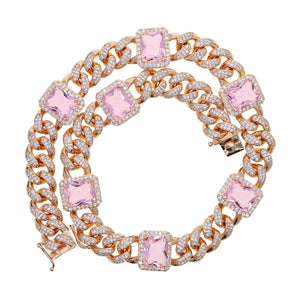Pink Paradise Cuban Jeweled Choker