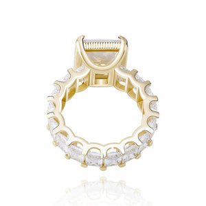Icy Gold Bling Queen Eternity Ring