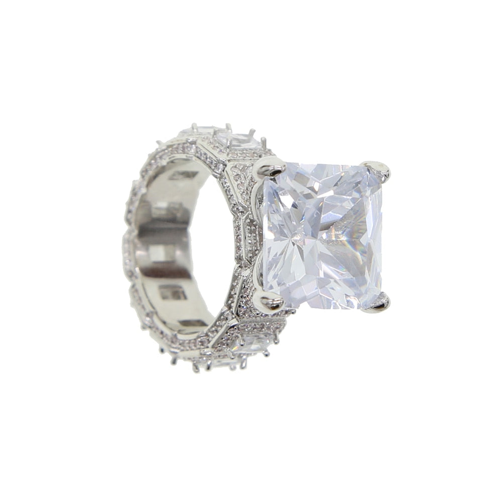 Luxury Icy Bling Cubic Zirconia Engagement Ring