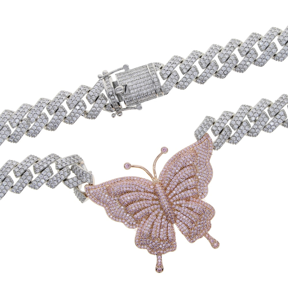 Butterfly Galore w/ Cuban Link Chain