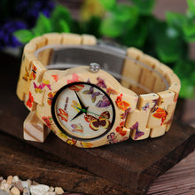 O20 Butterfly Print Women Watches