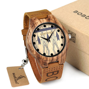 Men's Wooden Wristwatch Causal Quartz