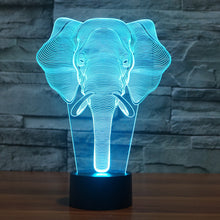 Elephant-2 3D Illusion LED Night Light  with 7 Colors