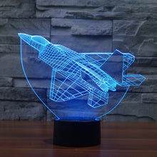 Plane 3D Illusion LED Night Light with 7 Colors