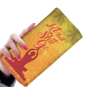 Let That Shit Go Yoga Women Wallet