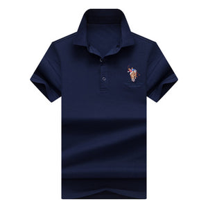 Summer Breathable Soft Cotton Polo Shirt