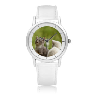 Pure White Double-Layer Concise Dial - Quartz Watch
