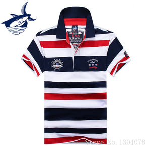 Summer Striped Shark Polo Shirt