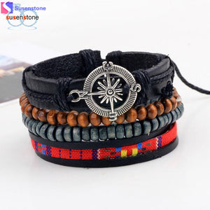 Braided Leather Cuff Bracelet