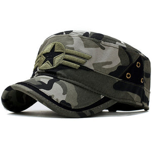 Spring Fitted Snapback Army Cap