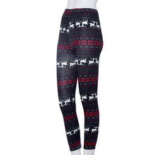 Women Skinny Leggings Stretchy Flower Deer Printed Pencil Tight Pants