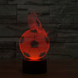 Football 3D Illusion LED Night Light with 7 Colors