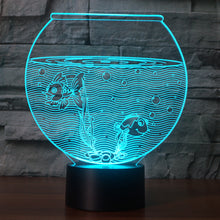 Fish Tank 3D Illusion LED Night Light with 7 Colors