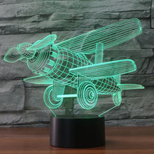 Model Plane-4 3D Illusion LED Night Light with 7 Colors