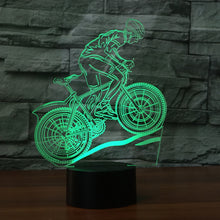 Mountain Bike 3D Illusion LED  Night Light with 7 Colors