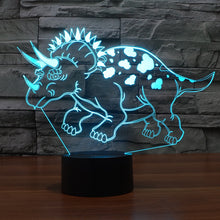 Dinosaur-7 3D Illusion LED Night Light  with 7 Colors