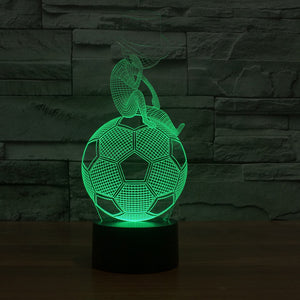Football-1 3D Illusion LED Night Light  with 7 Colors