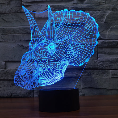 Dinosaur-2 3D Illusion LED Night Light  with 7 Colors