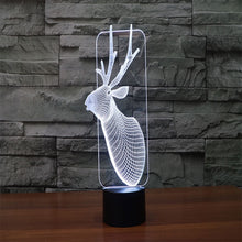 Sled Deer 3D Illusion LED Night Light with 7 Colors