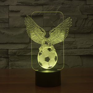Football-2 3D Illusion LED Night Light  with 6 Colors
