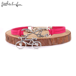 Infinity Love  Bicycle Charm Bracelet