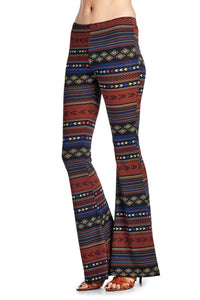 Geo Stripe Flare Pants